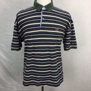 VTG 90s Tommy Hilfiger Striped Mens Polo Shirt XL